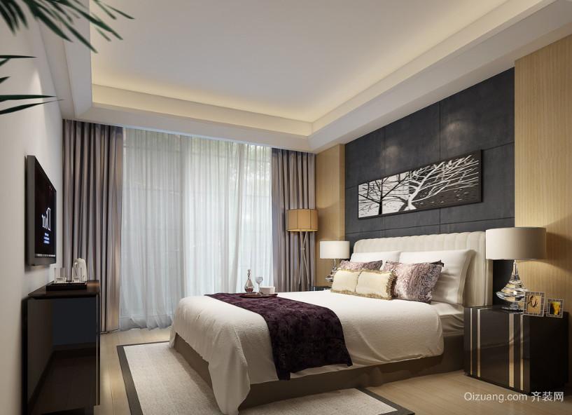 精致的别墅型现代简约卧室室内装修效果图