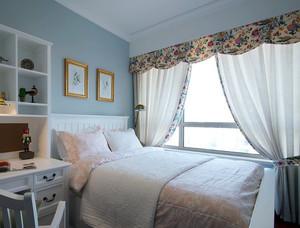 简约女神小卧室窗帘效果图片