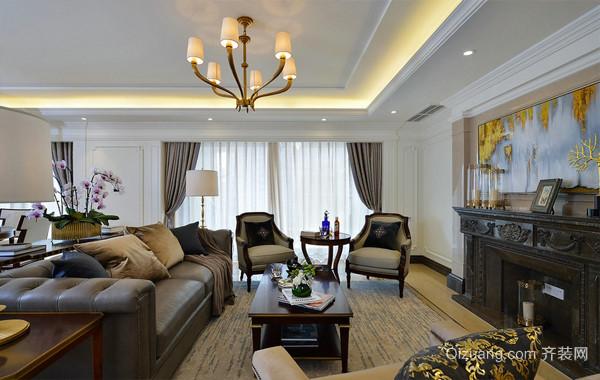 高雅格调的别墅现代美式装潢设计图