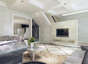 2016别墅室内欧式电视柜背景墙装修效果图