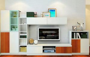 都市单身小公寓客厅电视柜效果图