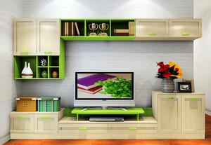 67平米一室一厅简约客厅电视柜效果图