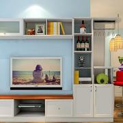 62平米小公寓现代客厅电视柜效果图