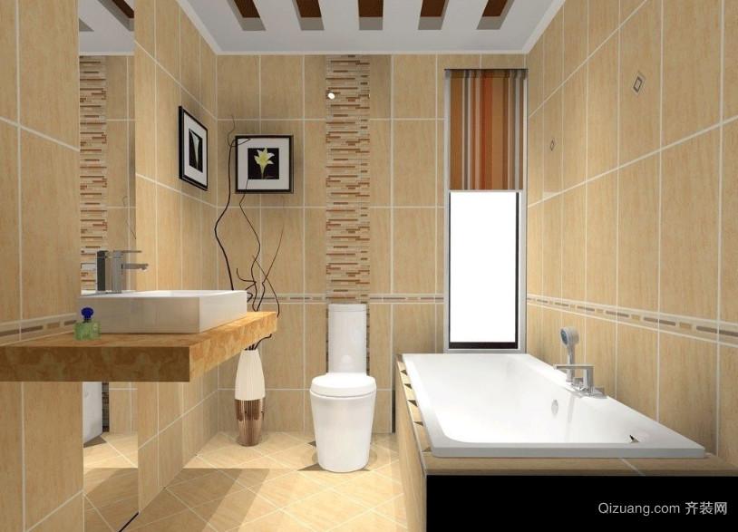 90平米现代欧式卫生间装修效果图鉴赏