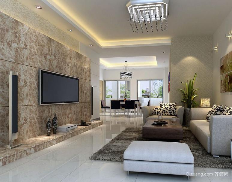 大户型欧式客厅电视背景墙装修效果图实例