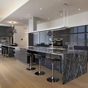 别墅开放式厨房吧台