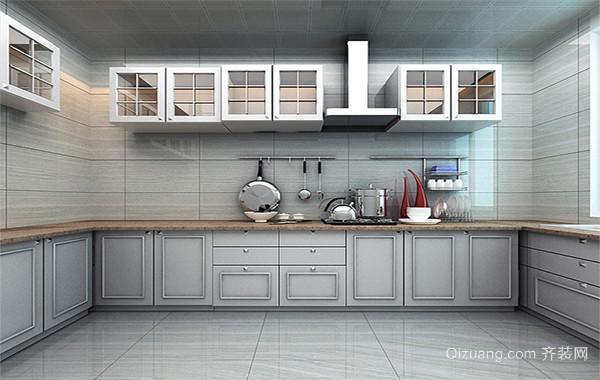 欧式唯美的别墅厨房吊顶装修设计效果图实例