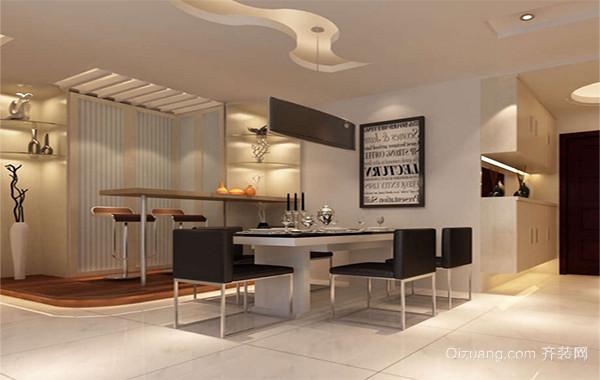 现代小户型欧式餐厅吊顶装修效果图实例