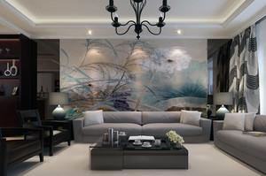 别墅型欧式功能沙发背景墙装修效果图鉴赏