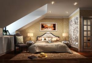欧式风格现代复式楼卧室装修效果图