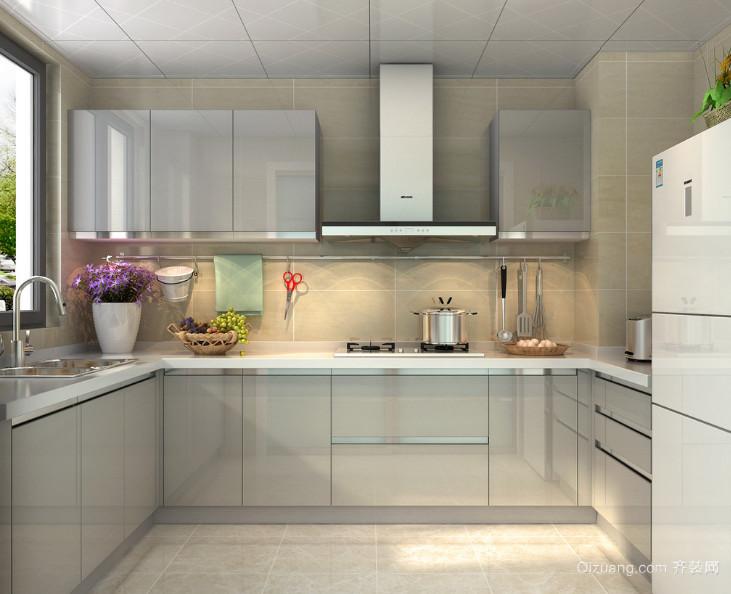 2016大户型现代欧式厨房橱柜装修效果图