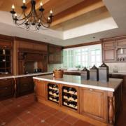 现代欧式风格大户型房子厨房装修效果图