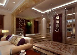 精致大户型欧式风格客厅玄关装修效果图欣赏
