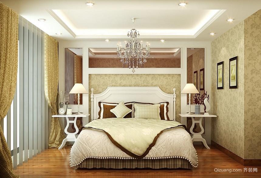 现代欧式经典的大户型卧室背景墙装修效果图