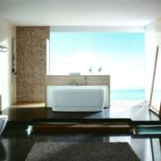 现代欧式大户型唯美浴室吊顶装修效果图