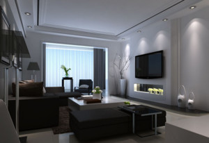 2016大户型精美欧式客厅背景墙装修效果图