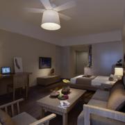 欧式风格现代单身公寓装修效果图实例