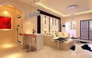 2016别墅型欧式风格客厅鞋柜装修效果图
