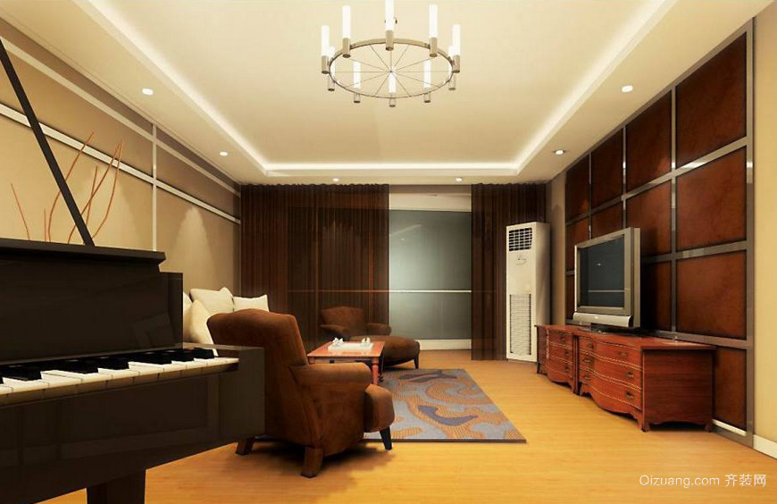 小户型房屋室内电视背景墙装修效果图实例