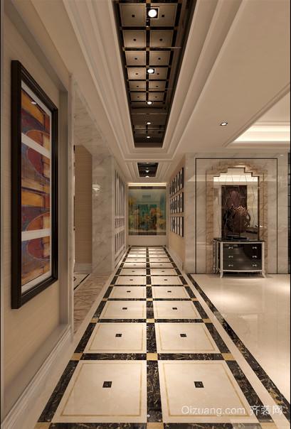 现代欧式大户型走廊吊顶装修效果图鉴赏