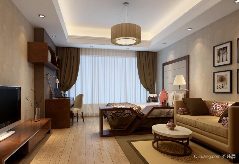 精致独特的大户型欧式风格室内窗帘装修效果图