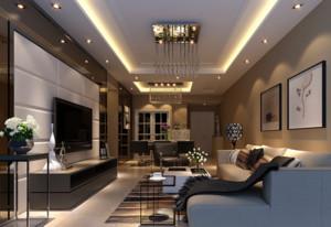 90平米大户型欧式风格客厅吊顶装修效果图