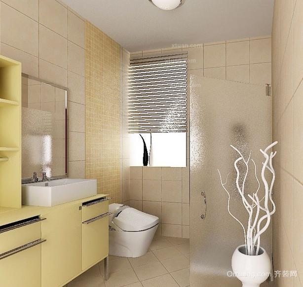 现代三居室欧式风格卫生间装修效果图实例