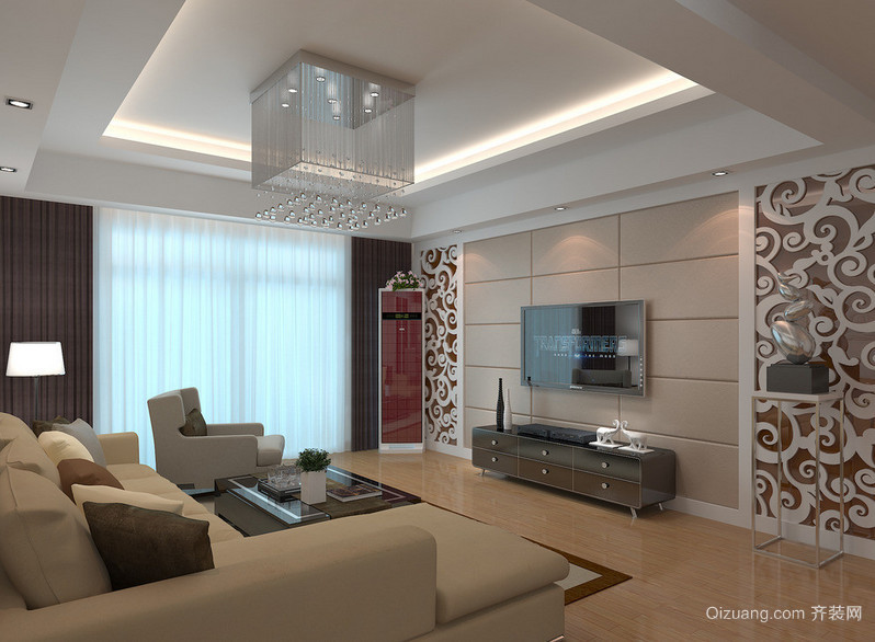 2016小户型欧式风格客厅装修效果图实例