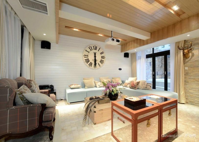 温馨90平米房屋小客厅朴素效果图