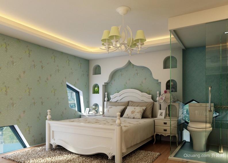 梦幻两居室卧室地中海风格装修图片