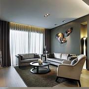 后现代客厅个性沙发背景墙