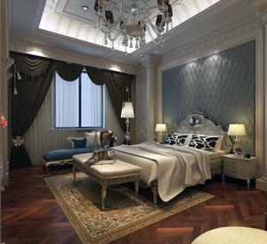 2016欧式风格家庭室内卧室背景墙装修效果图
