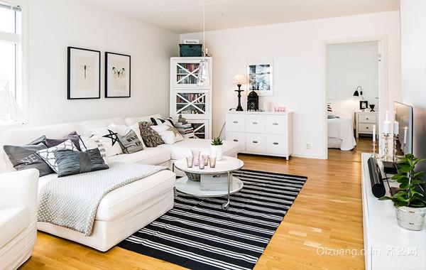 紧凑型北欧风50平米单身公寓装修图片