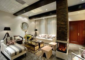 90平米自然朴素房屋客厅装修效果图