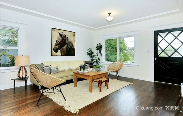 88平米北欧风温馨两居室装修图片