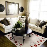 后现代风格68平米家居小客厅地毯图片