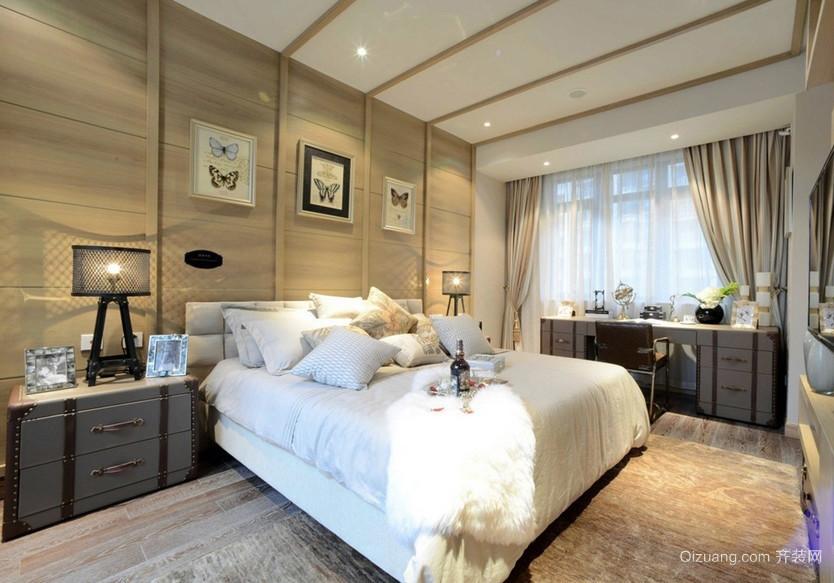 浅色调90平米房屋朴素卧室装修效果图