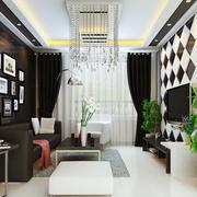 格调优雅后现代客厅图片