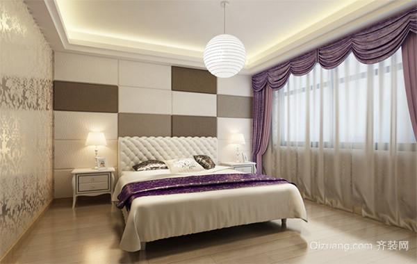 欧式风格大户型唯美卧室背景墙装修效果图