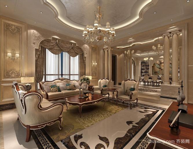 精致的现代大户型欧式客厅装修效果图鉴赏