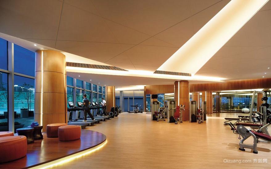 城市现代健身房室内设计装修效果图