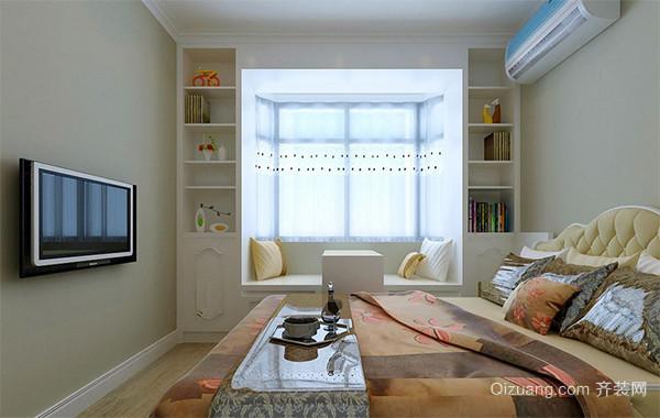 90平米日式风格大户型榻榻米卧室装修效果图
