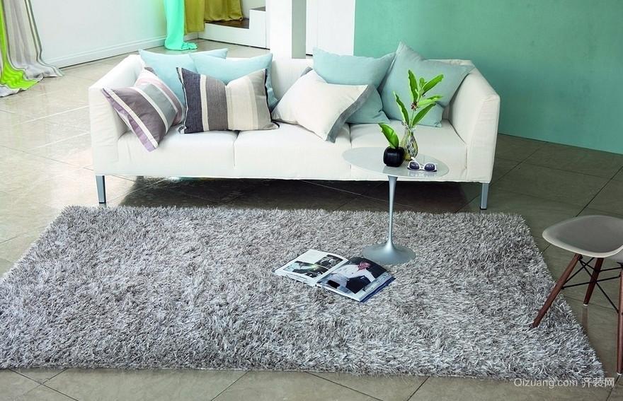 2016时尚都市公寓家居地毯装修图片