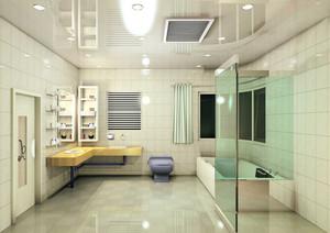现代98平米家居整体卫生间设计效果图