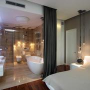 两室一厅主卧室卫生间设计