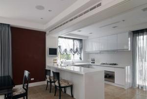 大户型现代风格开放式厨房吊顶装修效果图