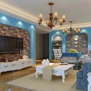 颇有情趣的93平米地中海风格客厅装修图片