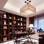 儒雅书香气90平米房屋中式书房装修图
