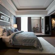 后现代灰白色卧室欣赏