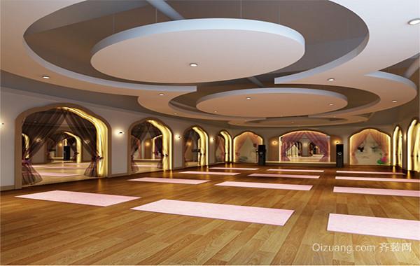 2016都市欧式装修瑜伽馆室内吊顶装修效果图